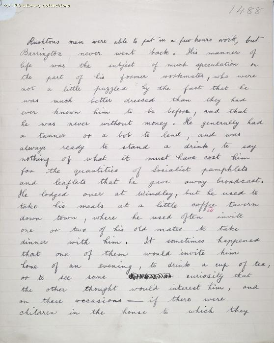 The Ragged Trousered Philanthropists - Manuscript, Page 1488