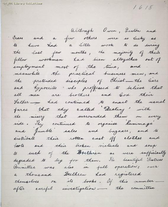 The Ragged Trousered Philanthropists - Manuscript, Page 1618