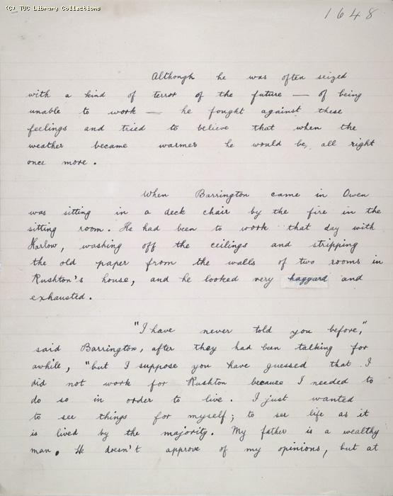 The Ragged Trousered Philanthropists - Manuscript, Page 1648