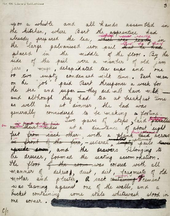 The Ragged Trousered Philanthropists - Manuscript, Page 3