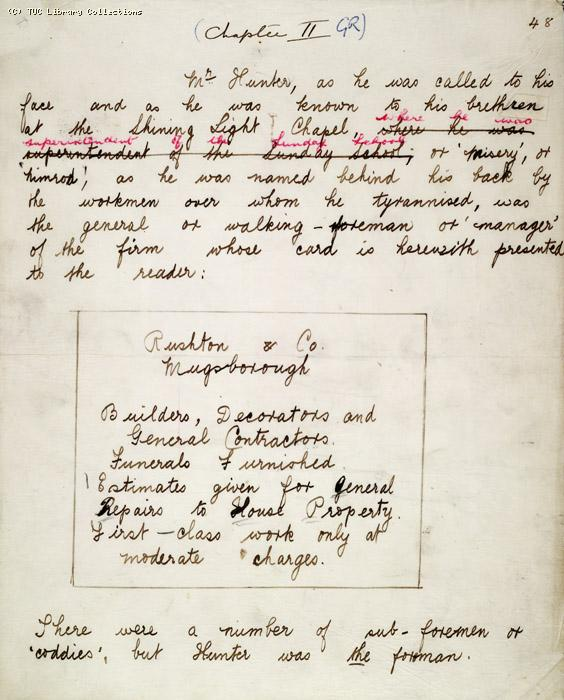 The Ragged Trousered Philanthropists - Manuscript, Page 48