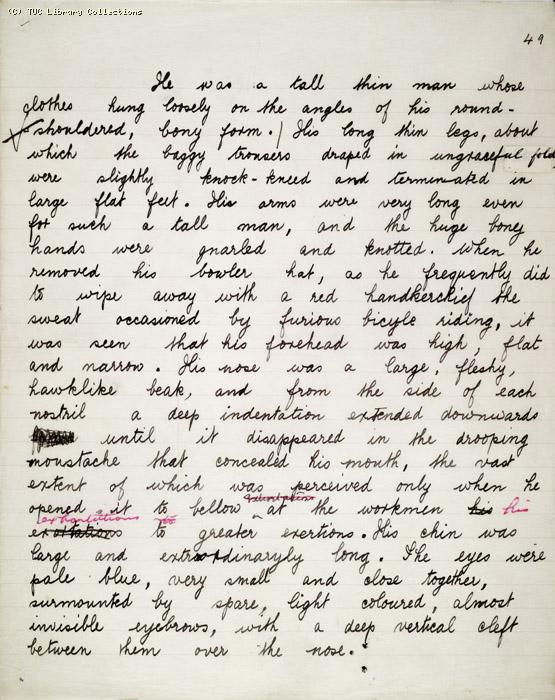 The Ragged Trousered Philanthropists - Manuscript, Page 49
