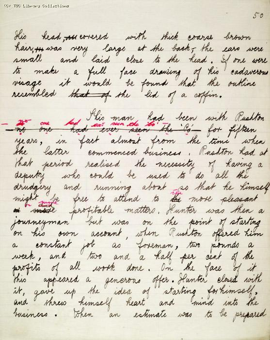 The Ragged Trousered Philanthropists - Manuscript, Page 50