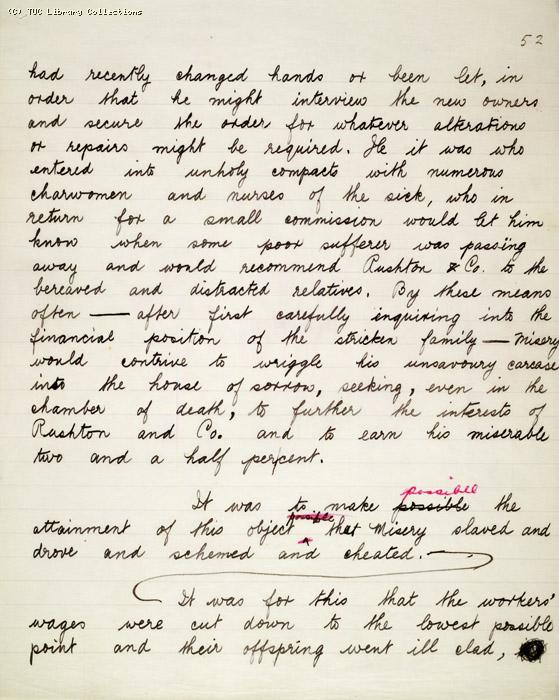 The Ragged Trousered Philanthropists - Manuscript, Page 52