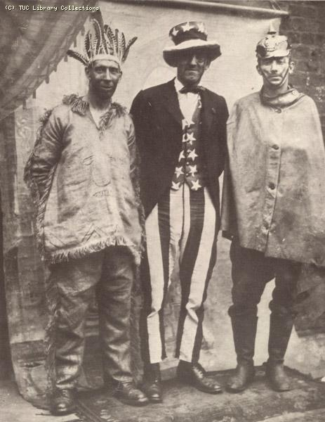 Miners in fancy dress fundraising for relief, 1926