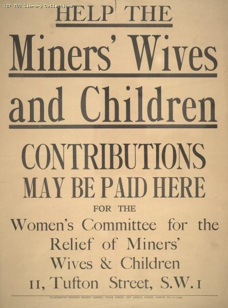 Poster - Help the Miners Wives
