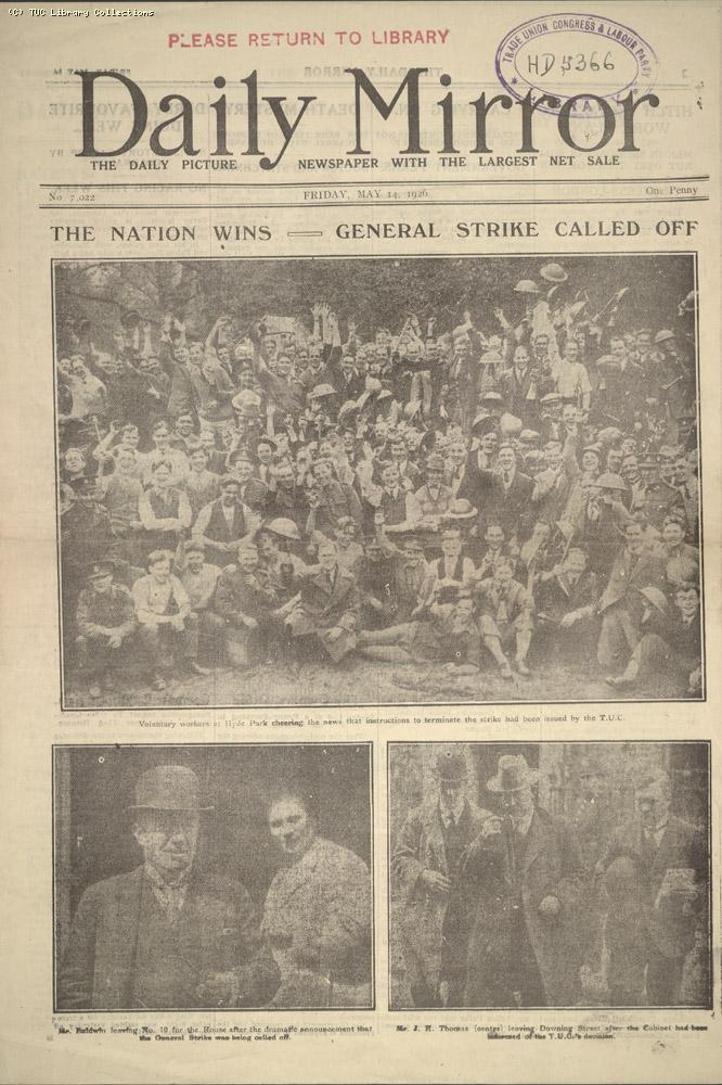 Daily Mirror, 14 May 1926