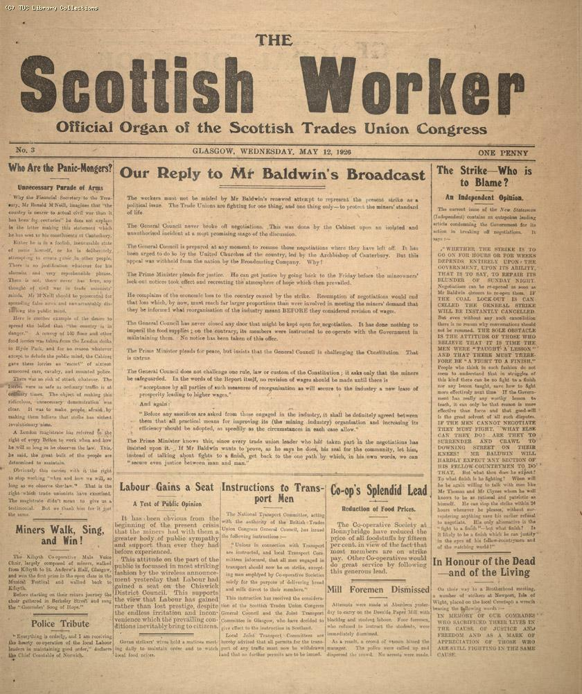 The Scottish Worker, 12 May 1926