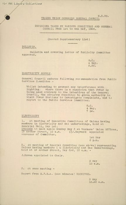 M.D. 30, Decisions Supplement 1-4 May 1926