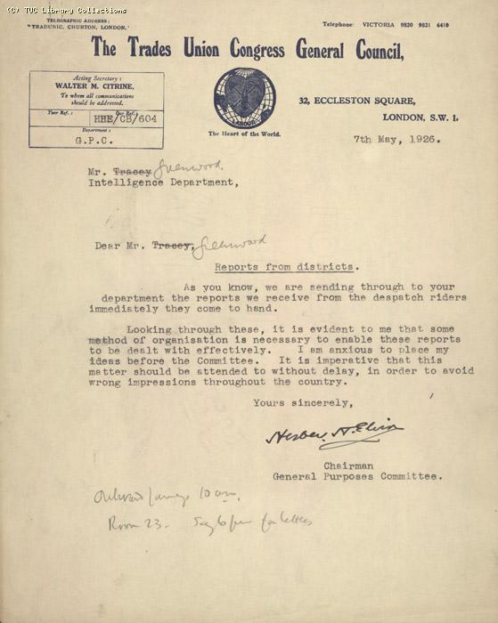 Letter - from Elvin, 7 May 1926