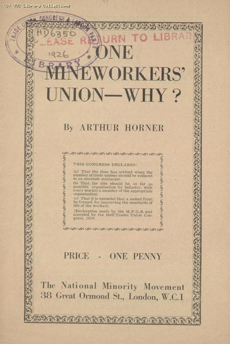 One Mineworkers Union