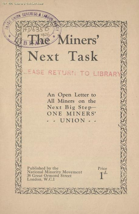 The Miners Next Task