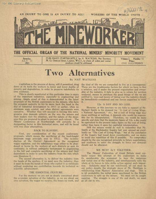 The Mineworker, 11 July 1925