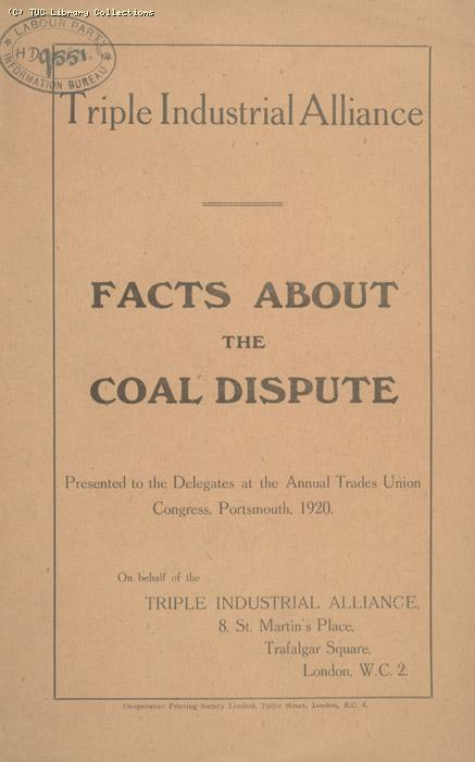 Facts about the coal dispute, 1920