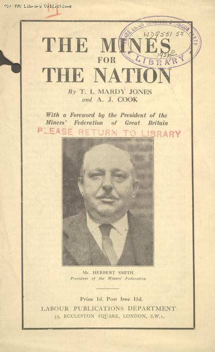 Leaflet - The Mines for the Nation, 192?