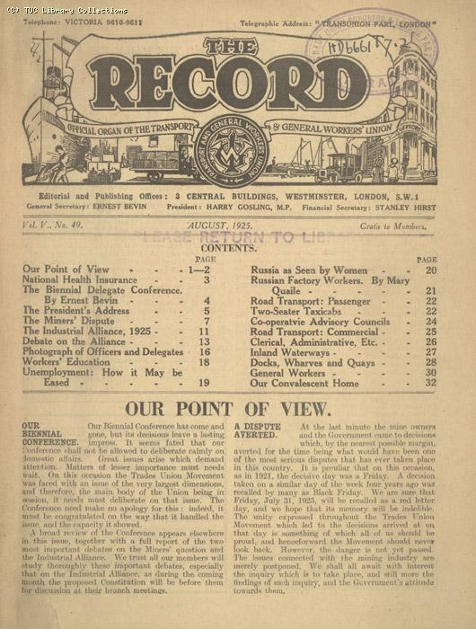 The Record - August 1925