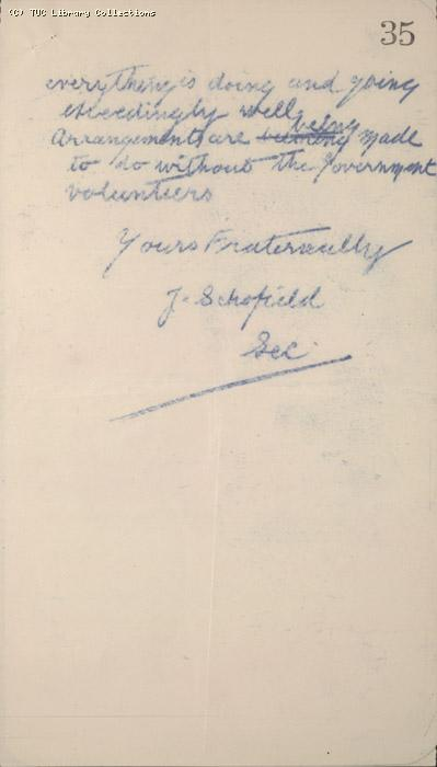 Letter - Ramsbotom, Labour Party, n.d.