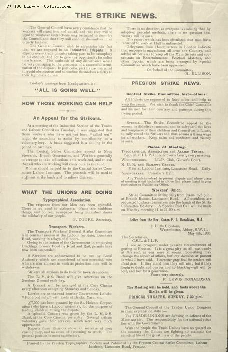The Preston Strike News, 7 May 1926