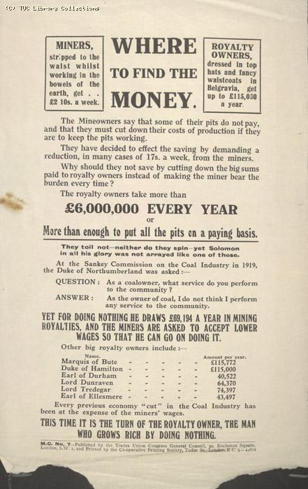 Leaflet - Where to find the money