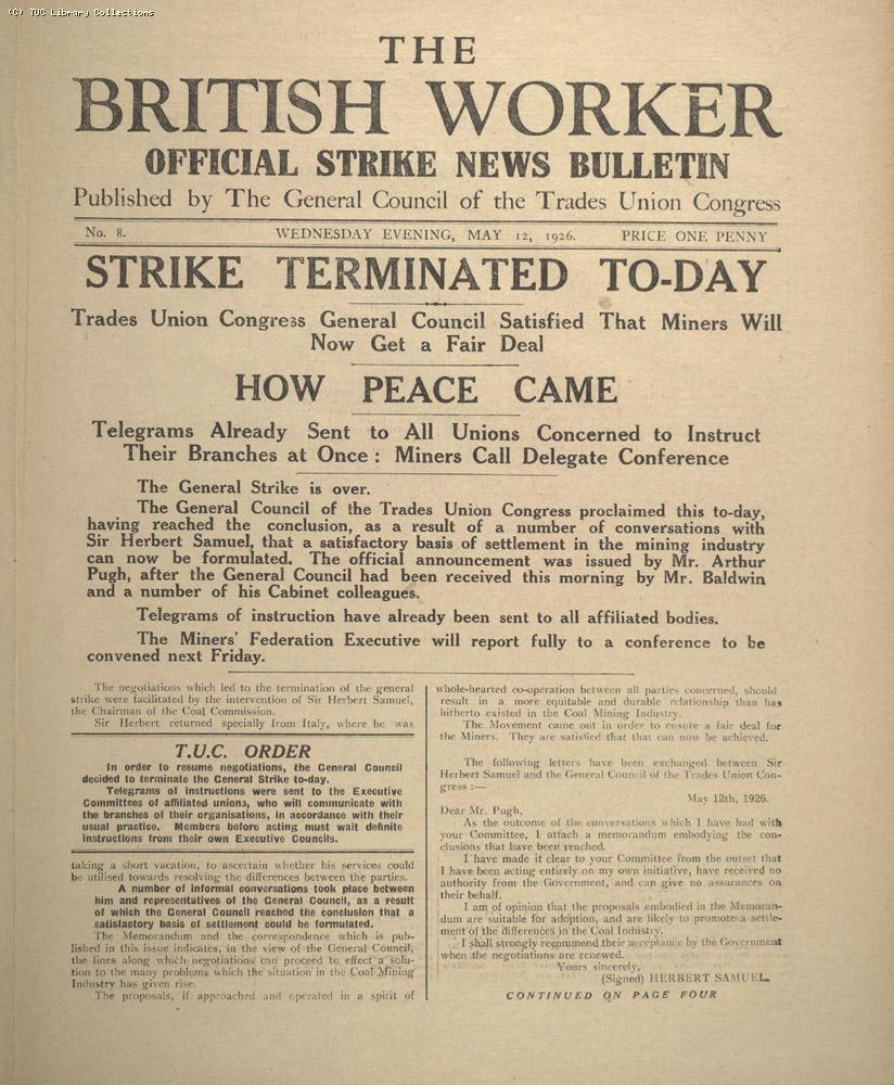 The British Worker, 12 May 1926