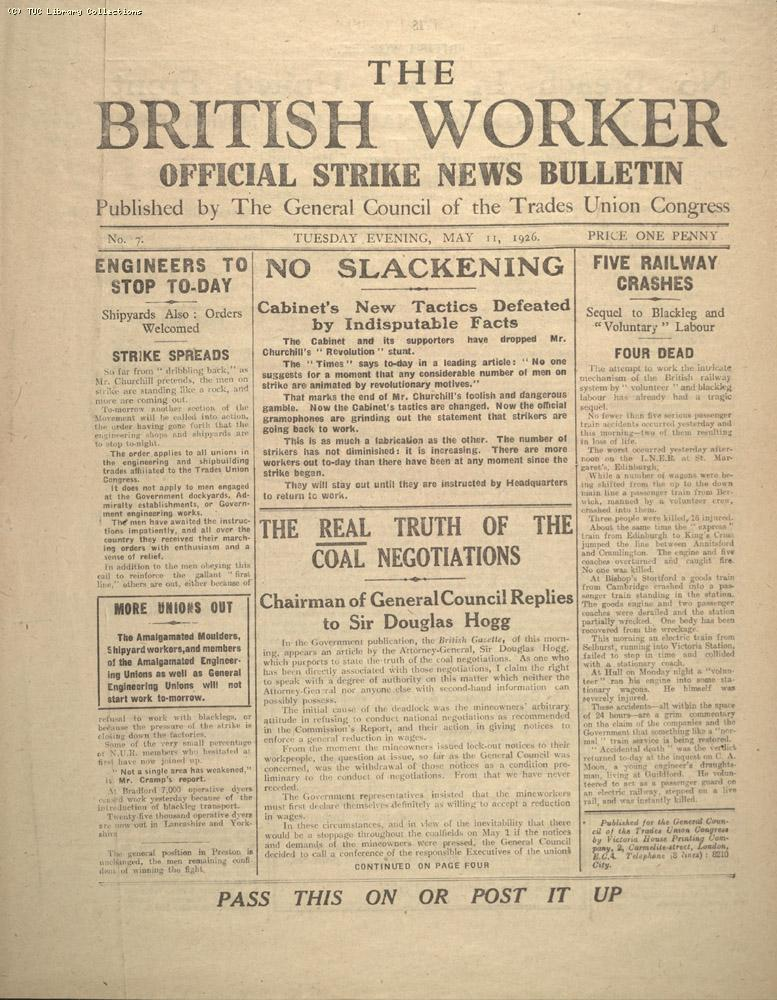 The British Worker, 11 May 1926