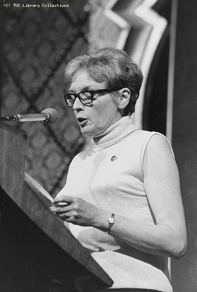 Audrey Hunt - TUC Congress 1968