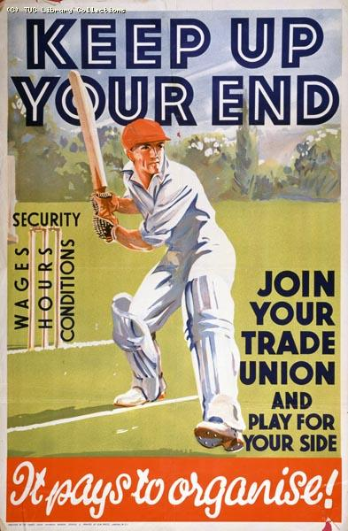 Keep up your end - TUC recruitment poster, 1934
