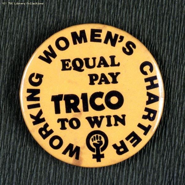 Trico strike badge, 1976