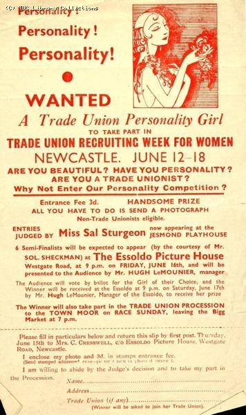 Trade Union Personality Girl contest, Newcastle, c1960
