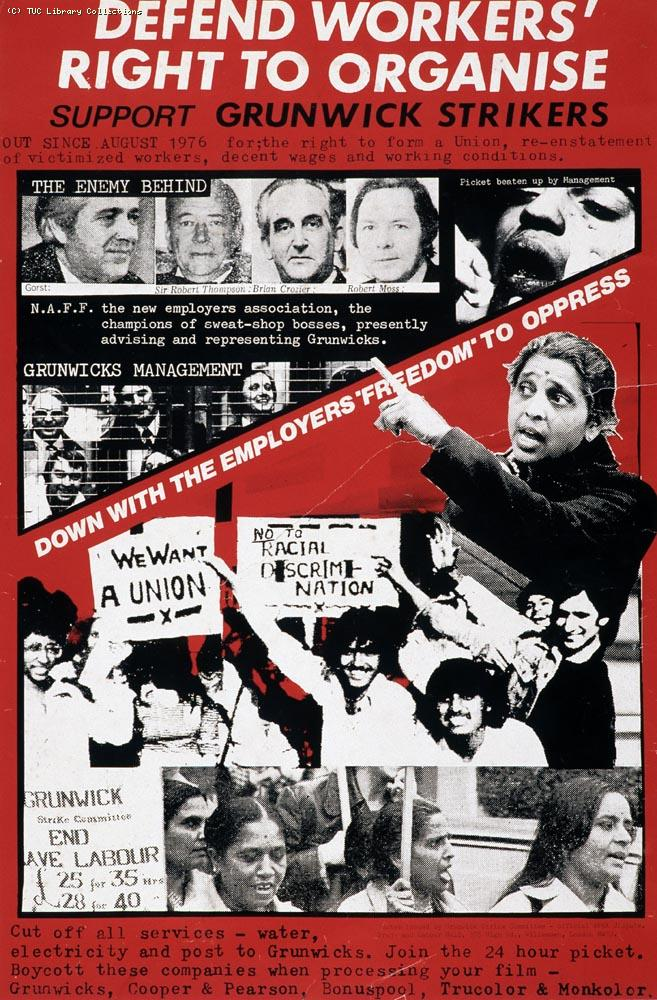 Poster - Support Grunwick Strikers