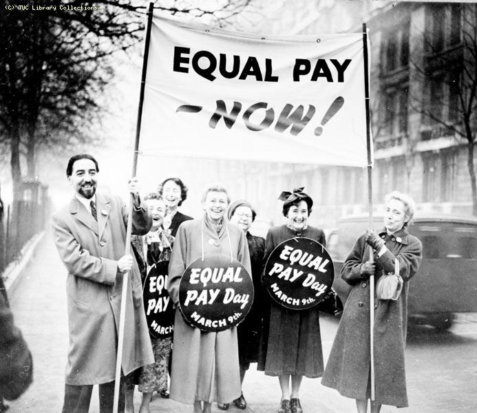Equal Pay demonstration, 1954