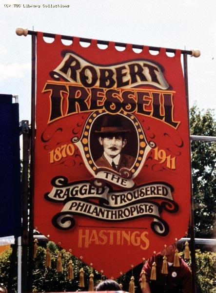 Robert Tressell banner - Tolpuddle Festival, 2002