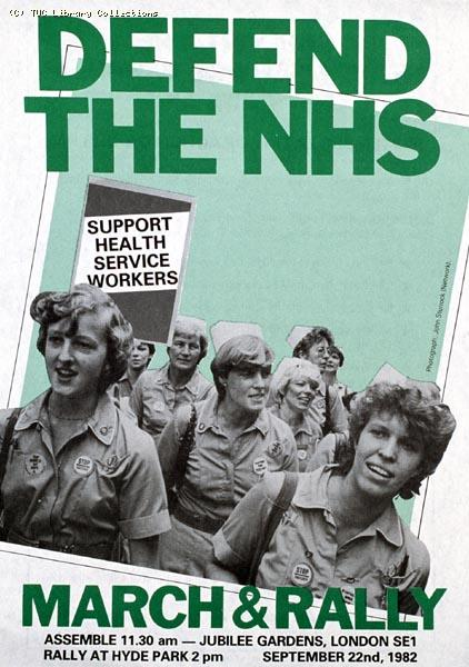 Leaflet - 'Defend the Nurses' rally, 22 September 1982