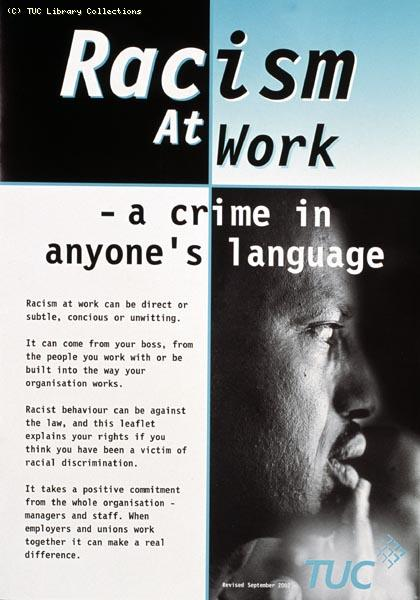 Racism at work - TUC booklet, 2002