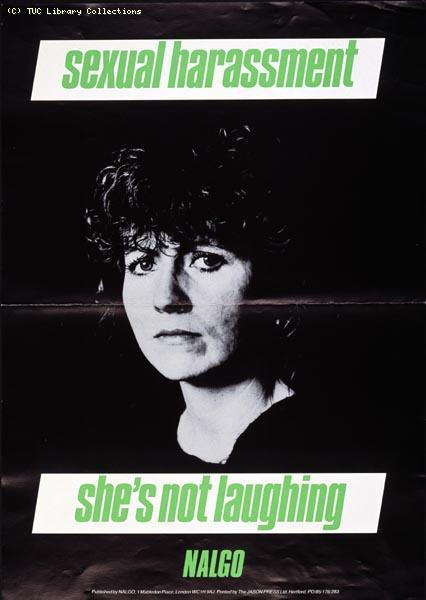 NALGO poster, Sexual Harassment, 1985