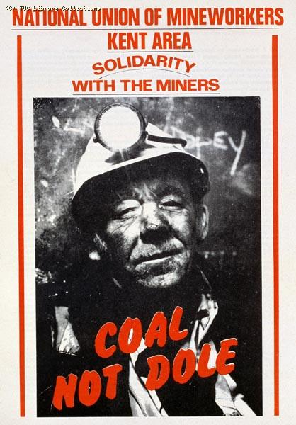NUR leaflet - Coal not dole, 1985