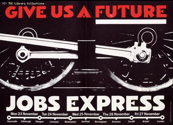 Jobs Express Poster - Give us a future, 1981