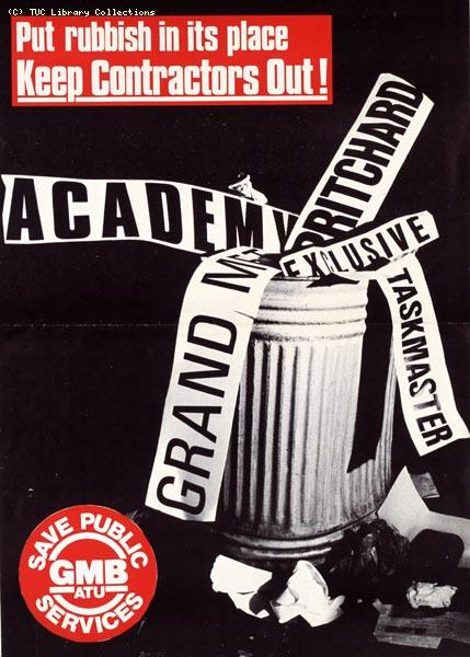GMBATU anti-privatisation poster, 1985