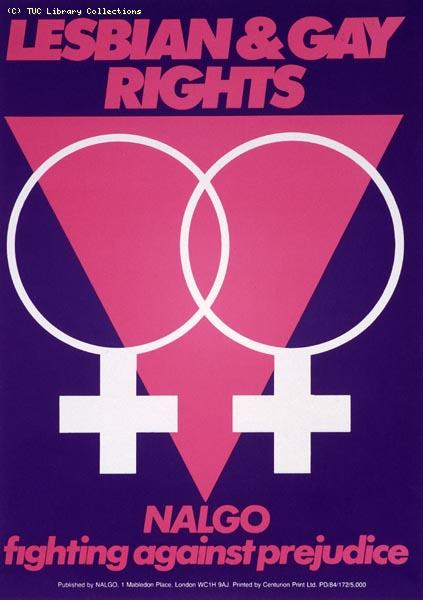 NALGO poster - Lesbian and Gay Rights, 1984