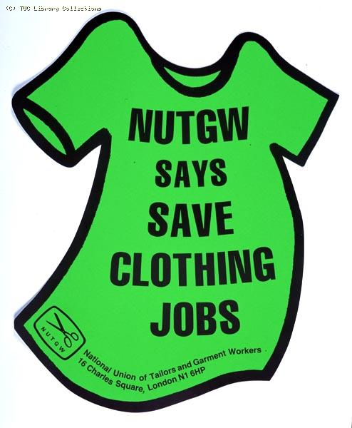 Poster - National Union of Tailors and Garment Workers, 1980