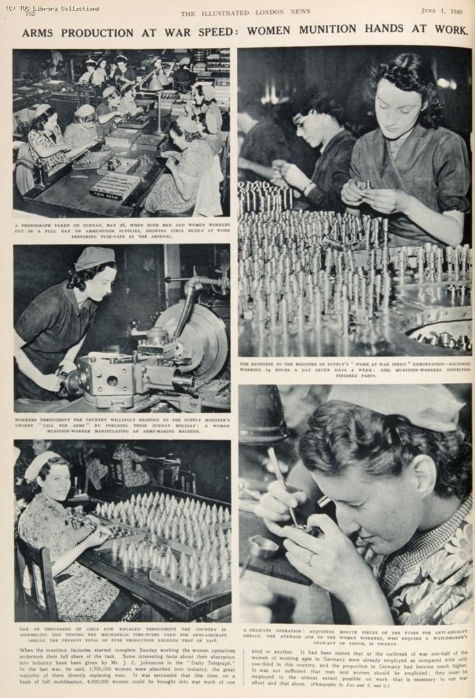 Women in arms production, 1940