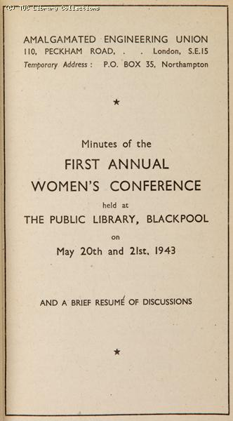 AEU First Women's Conference, 1943