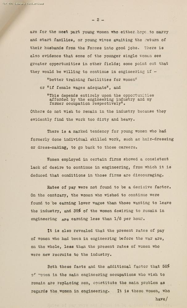 AEU Women's Enquiry, 1945