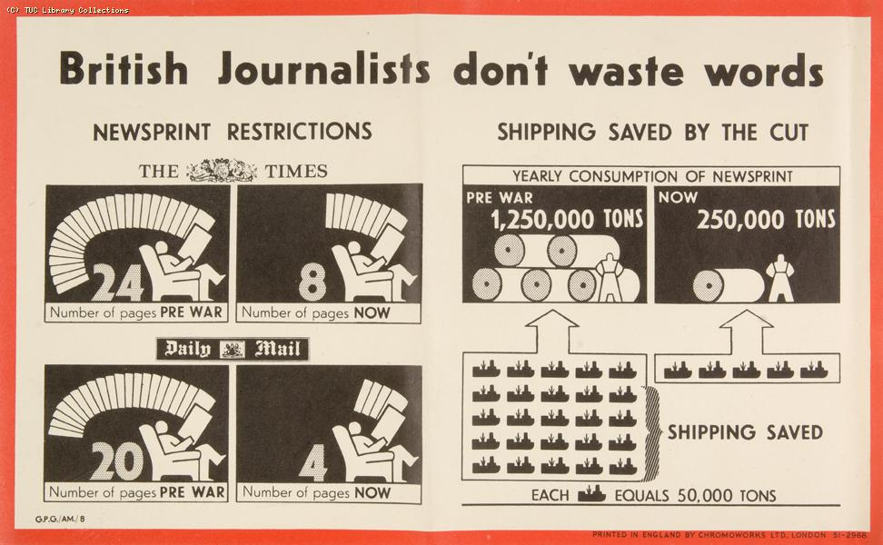 British journalists don't waste words, 1943-1945
