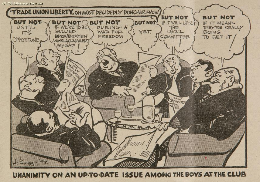 Repeal of the Trade Disputes and Trade Unions Act, 1927 - cartoon 1943