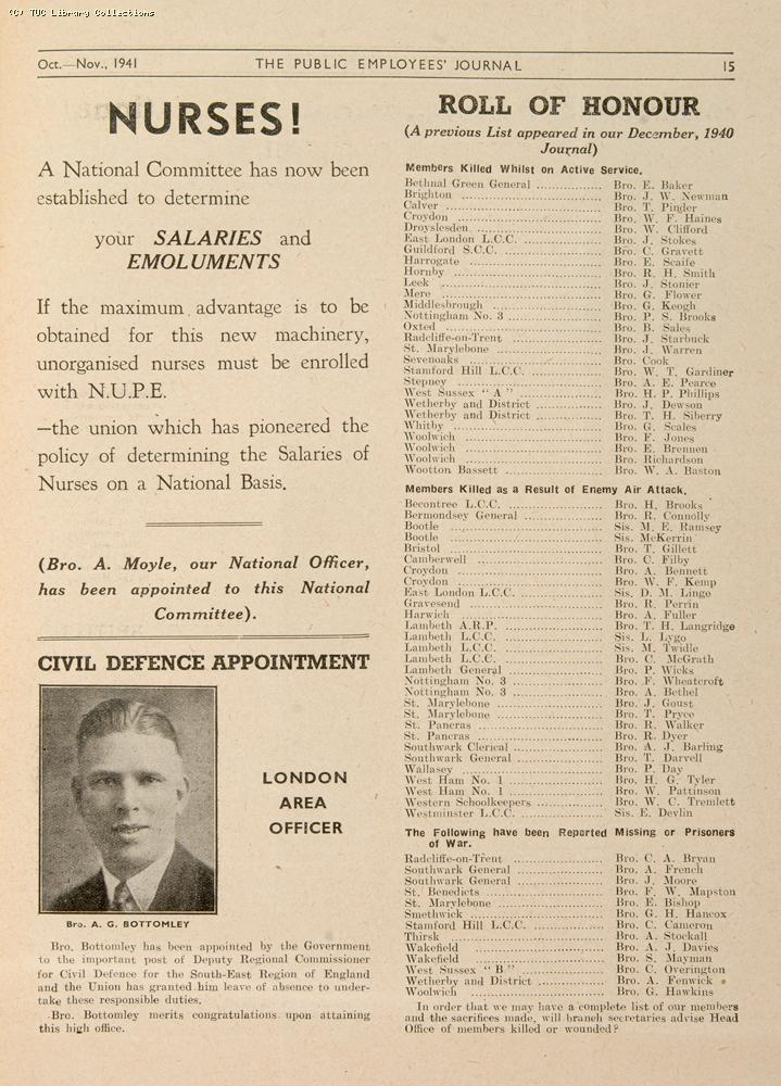 Roll of Honour, 1941