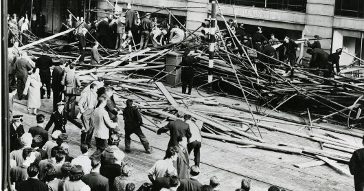 Scaffolding collapsed