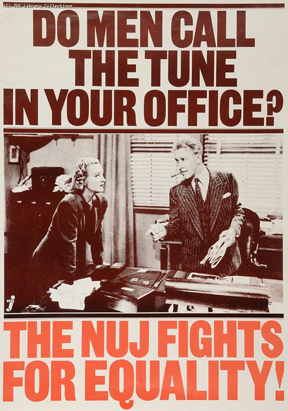 Do men call the tune in your office? - poster 1980s