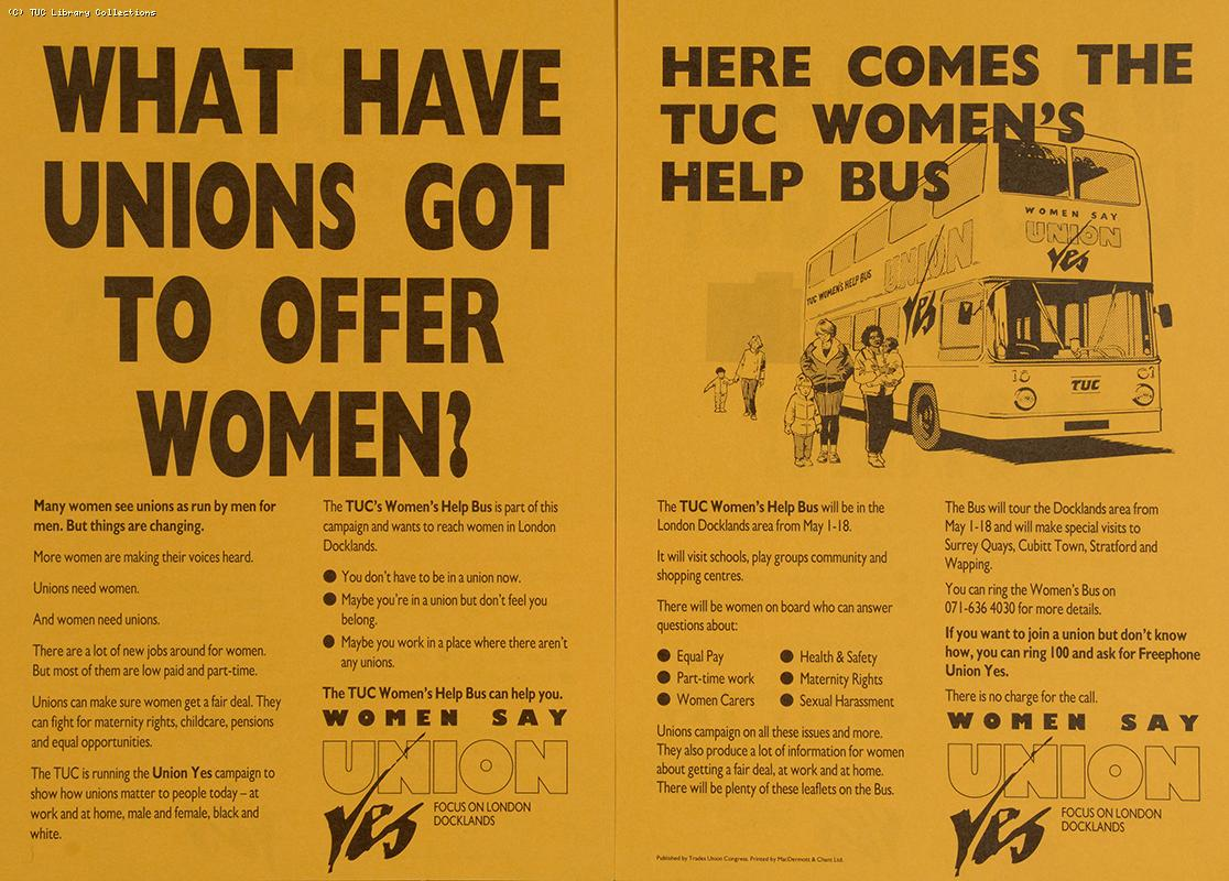 TUC Women's Help Bus, 1990