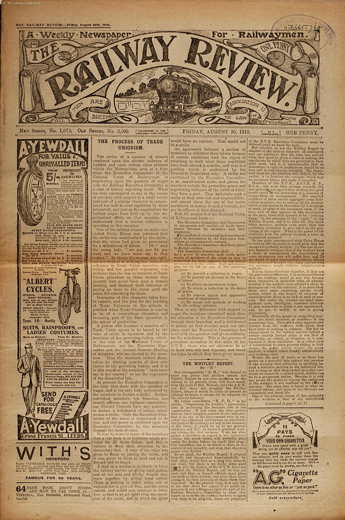 'Railway Review', 1918